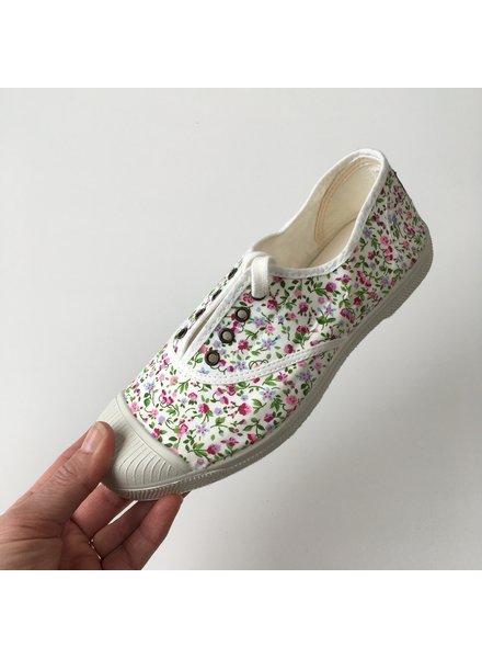 NATURAL WORLD eco sneakers dames KOALA - biologisch katoen - bloemetjes