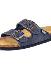 NATURAL WORLD vegan cork sandal unisex adult TROPIC - organic cotton - stone washed denim blue - 35 to 46