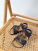 NATURAL WORLD vegan bio children's sandal SUNNY - organic cotton / cork - stone washed denim blue - 24 to 34