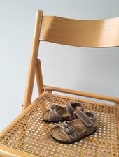 NATURAL WORLD vegan bio children's sandal SUNNY - organic cotton / cork - stone washed beige - 24 to 34