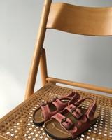 NATURAL WORLD vegan bio children's sandal BEACH DUO - organic cotton / cork - stone washed terracotta  - 24 to 34
