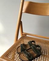 NATURAL WORLD vegan bio children's sandal SUNNY - organic cotton / cork - stone washed khaki - 24 to 34