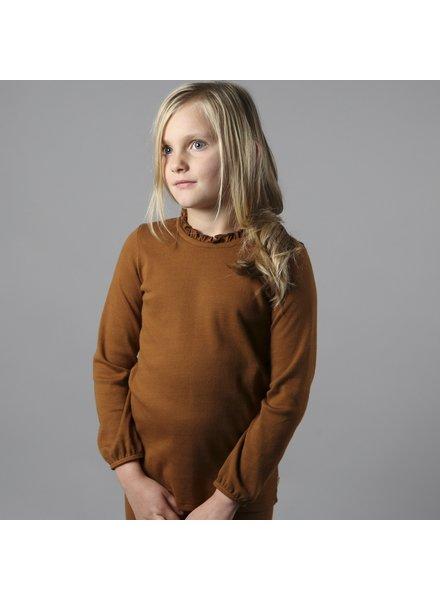 Minimalisma kinder shirt INGUNN - 100% biologisch  katoen -  amber - 2 tm 12 jaar