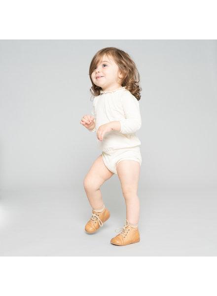 Minimalisma baby romper INGVA - 100% biologisch katoen - milk