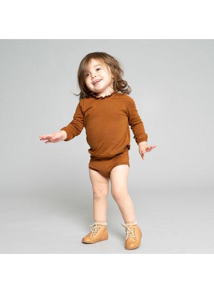 Minimalisma baby romper INGVA - 100% biologisch katoen - amber