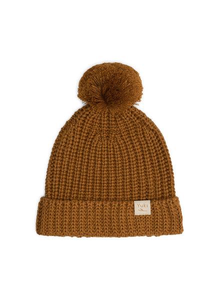 YUKI chunky knit beanie child - 100% organic cotton - rust