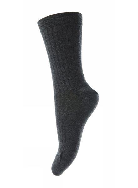 MP Denmark korte wollen sokken  - 80% merino wool - antraciet - maat 37 tm 46