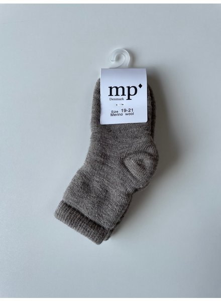MP Denmark woolen terry socks - 80% merino wool - beige - size 15 to 36
