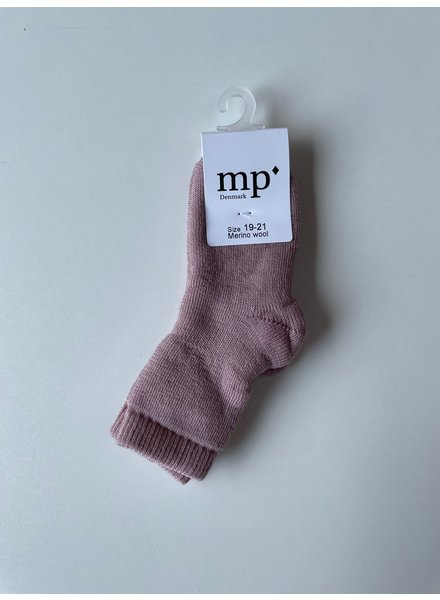 MP Denmark wool terry socks - 80% merino wool - wood rose - size 15 to 36