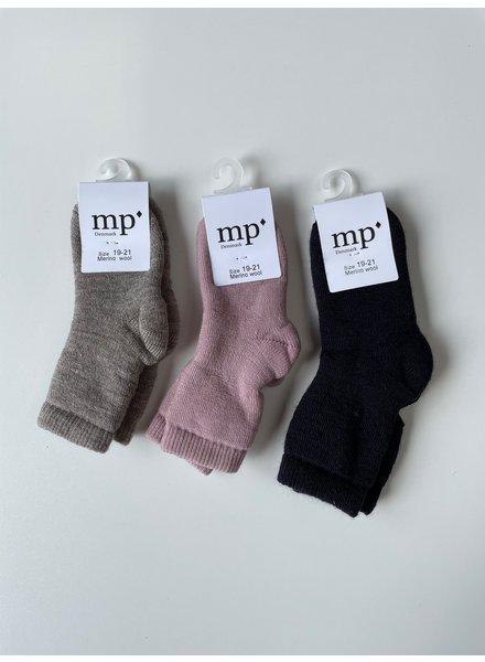 MP Denmark wollen terry sokken - 80% merino wool - donkerblauw - maat 15 tm 36