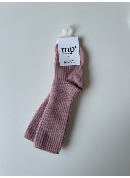 MP Denmark wollen kniekousjes - 80% merino wool - wood rose - maat 15 tm 32