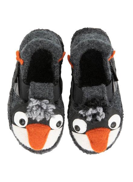 NANGA  wollen anti-slip sloffen barefoot kind PINGU - 100% biologische wol - bruin - 23 tm 32