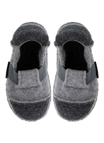 NANGA  woolen barefoot non slip slippers BERG child - 100% organic wool -grey - 28 to 42
