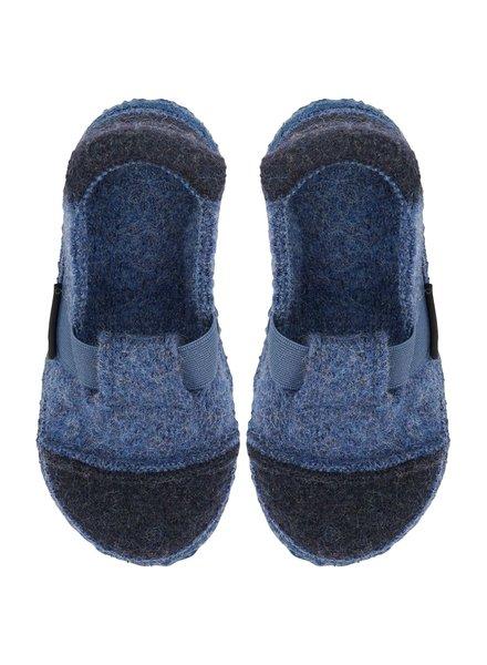 NANGA  wollen anti-slip sloffen barefoot kind BERG- 100% bioloigsche wol - blauw - 28 tm 40