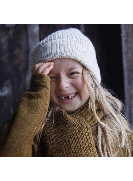 Minimalisma woolen beanie hat KOZY - 100% baby alpaca - cream - 1 to 12 years old