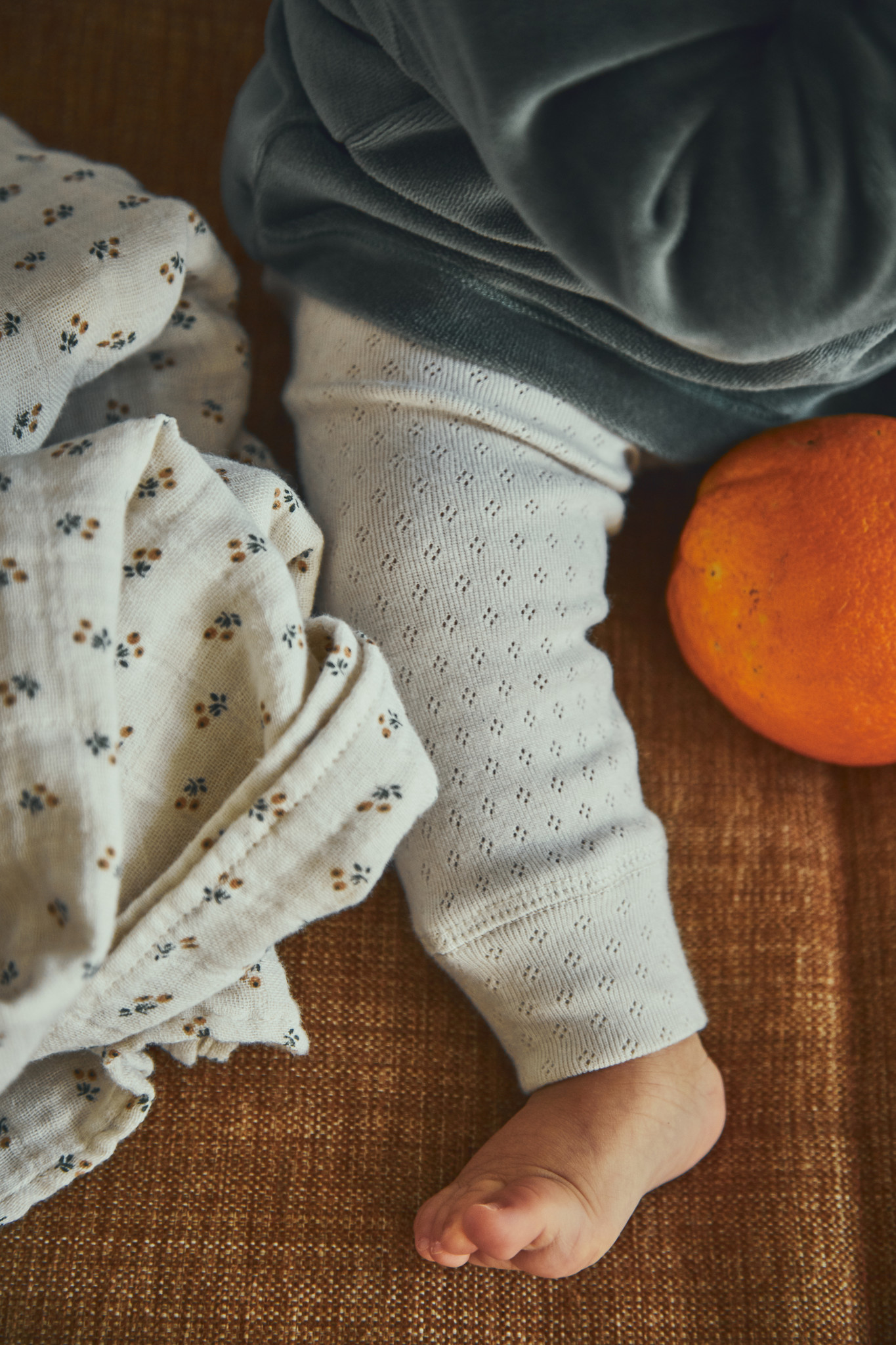 Poudre Organic openwork leggings BASILIC - 100% organic cotton - white - 1 to 24 months