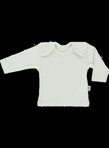 Poudre Organic baby ajour shirt BEGONIA  - 100% biologisch katoen - wit - 1 tm 24 maanden