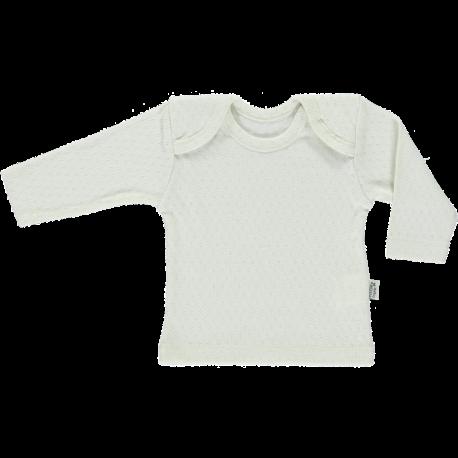 Poudre Organic baby open-work shirt BEGONIA - 100% organic cotton - white - 1 to 24 months