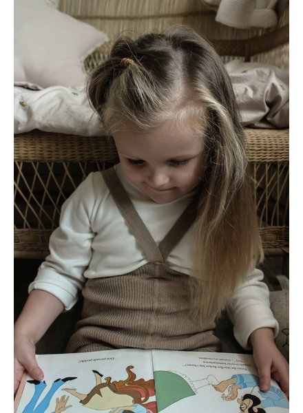 Silly Silas footless tights with suspenders - 100% organic cotton - peanut blend - 6 m to 4 years