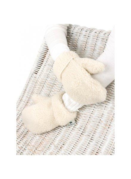 Alwero teddy wollen wanten FREEZE  - 100% teddy wol - naturel wit - kind tm volwassen