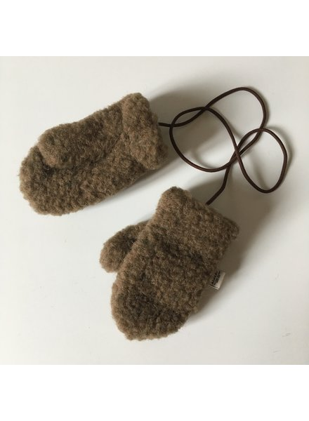 Alwero wollen baby tm kleuter wanten GULLY  - 100% teddy wol - bruin