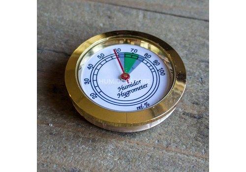 Humidor hygrometer basic gold