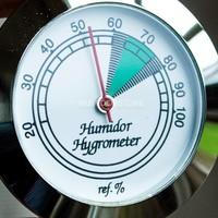 Humidor hygrometer basic silver