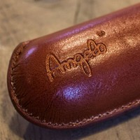 Leather cigar case Angelo brown