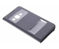 Schwarze Luxus Slim Booktype Hülle mit Sichtfenster Samsung Galaxy A3