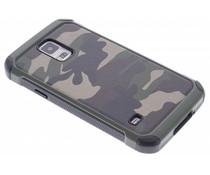 Grüne Camouflage Hardcase-Hülle für Samsung Galaxy S5 (Plus)/Neo