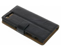 Knitterleder Booktype Hülle Schwarz für Sony Xperia X Compact