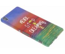 Never Stop Dreaming Design Hardcase Hülle für Sony Xperia XA