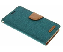 Mercury Goospery Canvas Diary Case für Samsung Galaxy S7 - Grün