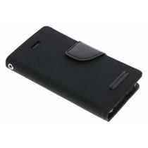 Mercury Goospery Canvas Diary Case für iPhone 5/5s/SE - Schwarz