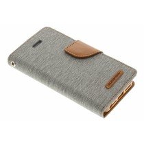 Mercury Goospery Canvas Diary Case für iPhone 5/5s/SE - Grau