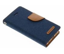 Mercury Goospery Canvas Diary Case für iPhone 5/5s/SE - Blau