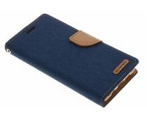 Mercury Goospery Canvas Diary Case für Samsung Galaxy A5 (2016) - Blau