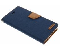 Mercury Goospery Canvas Diary Case für iPhone 6(s) Plus - Blau