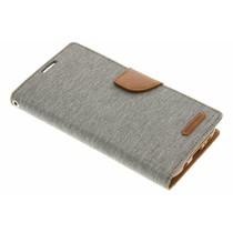 Mercury Goospery Canvas Diary Case für Samsung Galaxy S7 Edge - Grau
