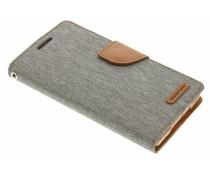 Mercury Goospery Canvas Diary Case für Samsung Galaxy A5 - Grau