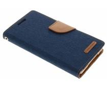 Mercury Goospery Canvas Diary Case für Samsung Galaxy A5 - Blau