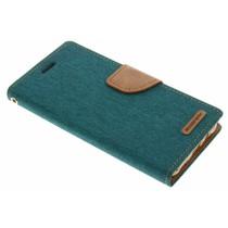 Mercury Goospery Canvas Diary Case für Samsung Galaxy J5 - Grün