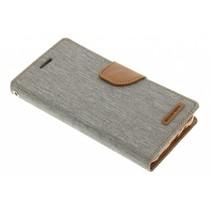 Mercury Goospery Canvas Diary Case für Samsung Galaxy J5 - Grau