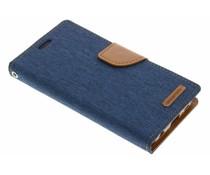 Mercury Goospery Canvas Diary Case für Samsung Galaxy S6 Edge - Blau