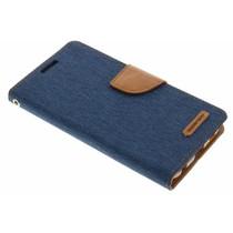 Mercury Goospery Canvas Diary Case für Samsung Galaxy S6 - Blau
