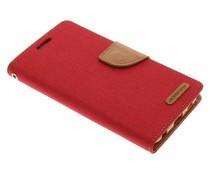 Mercury Goospery Canvas Diary Case für Samsung Galaxy S6 - Rot