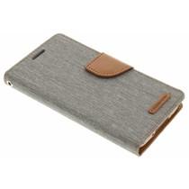 Mercury Goospery Canvas Diary Case für Samsung Galaxy S5 (Plus)/Neo - Grau