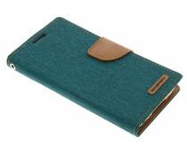 Mercury Goospery Canvas Diary Case für Samsung Galaxy S5 (Plus)/Neo - Grün