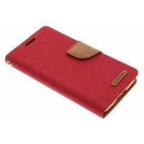 Mercury Goospery Canvas Diary Case für Samsung Galaxy S5 (Plus)/Neo - Rot