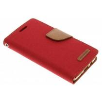Mercury Goospery Canvas Diary Case für Samsung Galaxy A3 - Rot